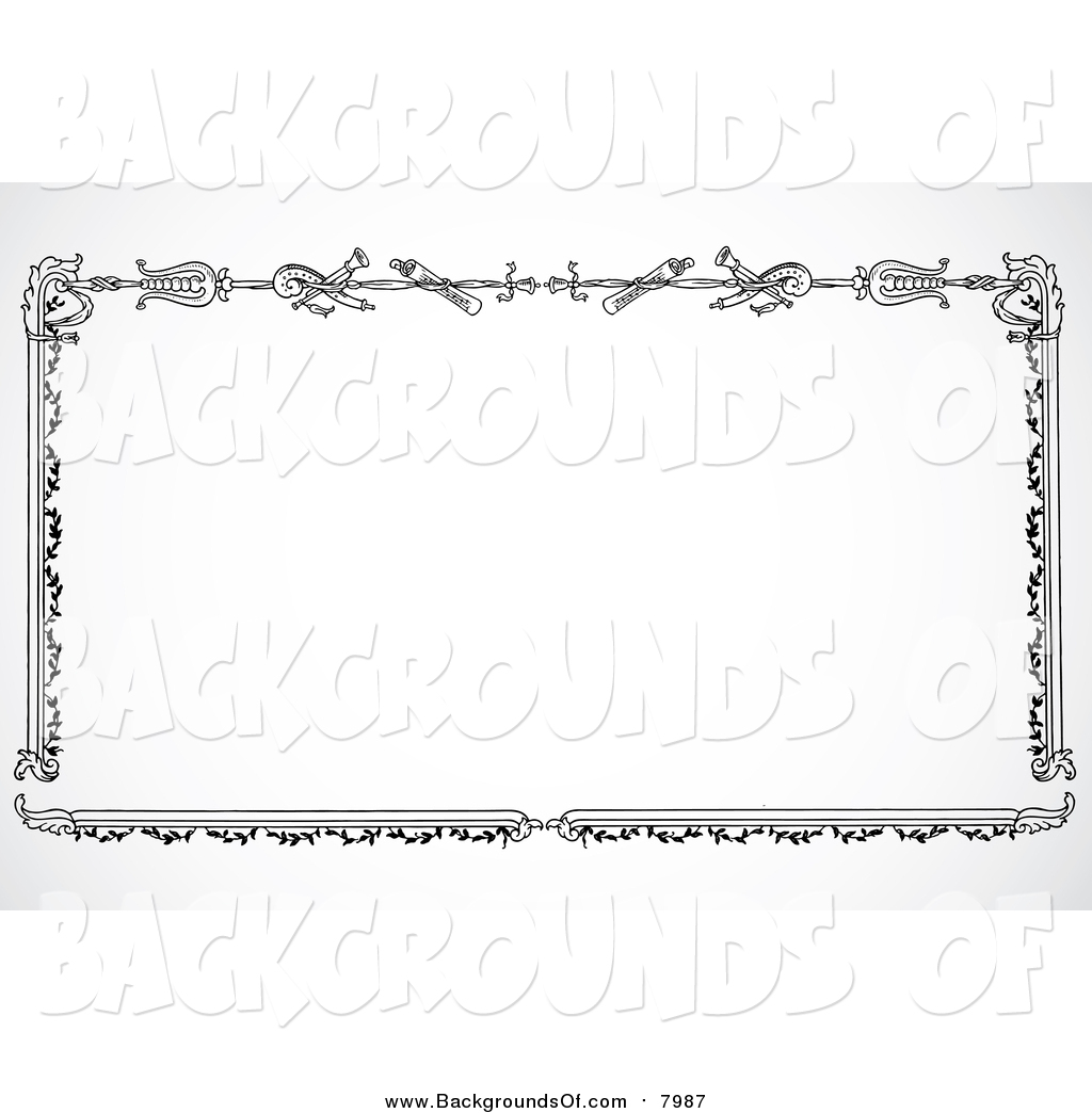 Vector Clipart of a Black and White Sword Border on Shading by.