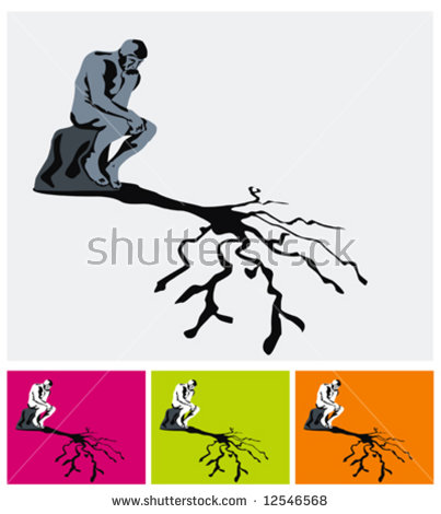 The Thinker And His Tree Shadow.
