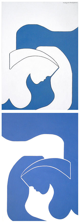 The Bleu Shadow Painting by Hildegarde Handsaeme.