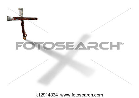 Stock Photo of Nails Casting a Large Cross.