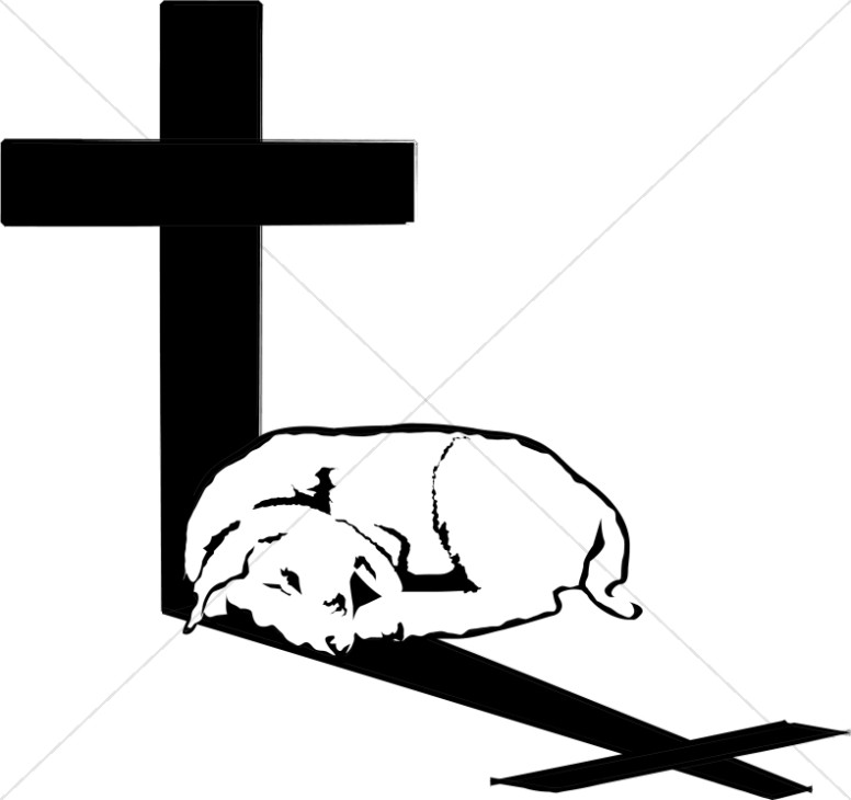 Lamb in Cross Shadow.