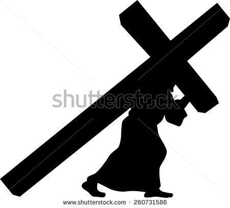 Man Cross Shadow Clipart.