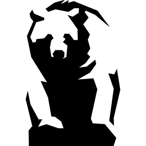 Bear Shadow Cliparts.