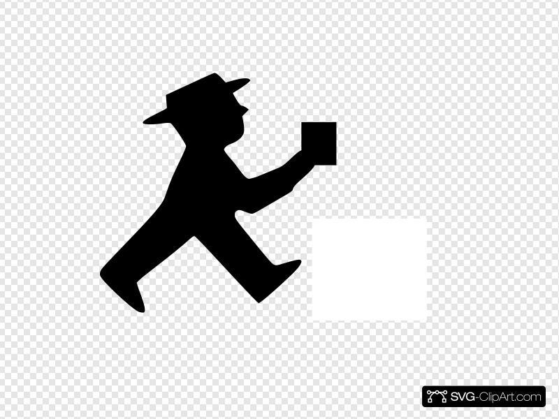 Dark Shadow Man Clip art, Icon and SVG.