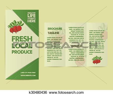 Clip Art of Summer Farm Fresh flyer template or brochure design.