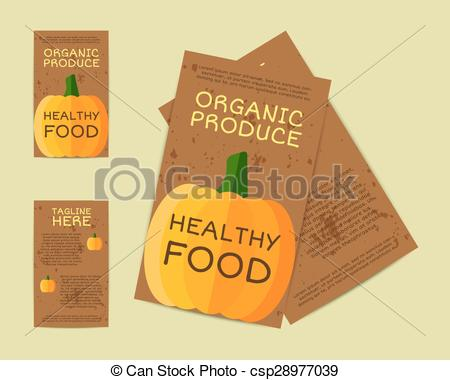 Vectors of Farm Fresh flyer, template or brochure design with.