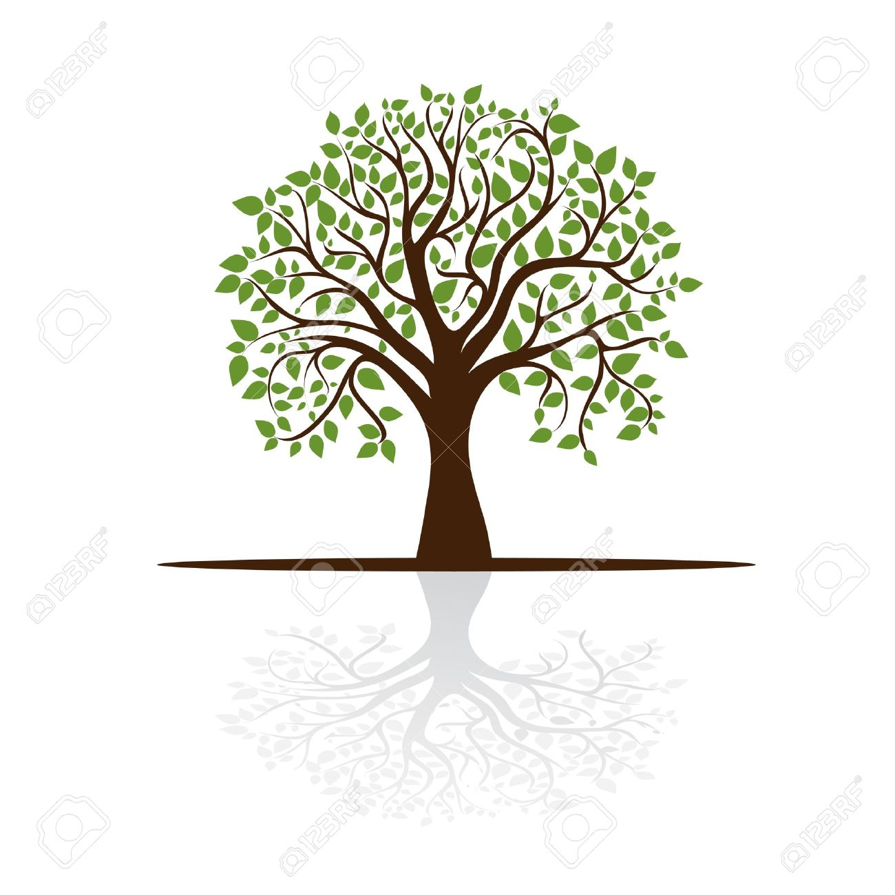Tree Casts A Shadow, A Place For Text, Royalty Free Cliparts.