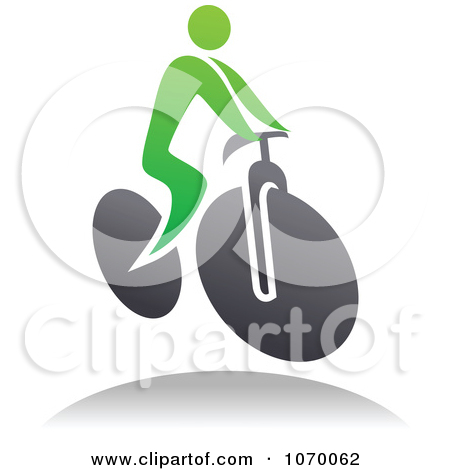 Clipart Cyclist Icon And Shadow 7.