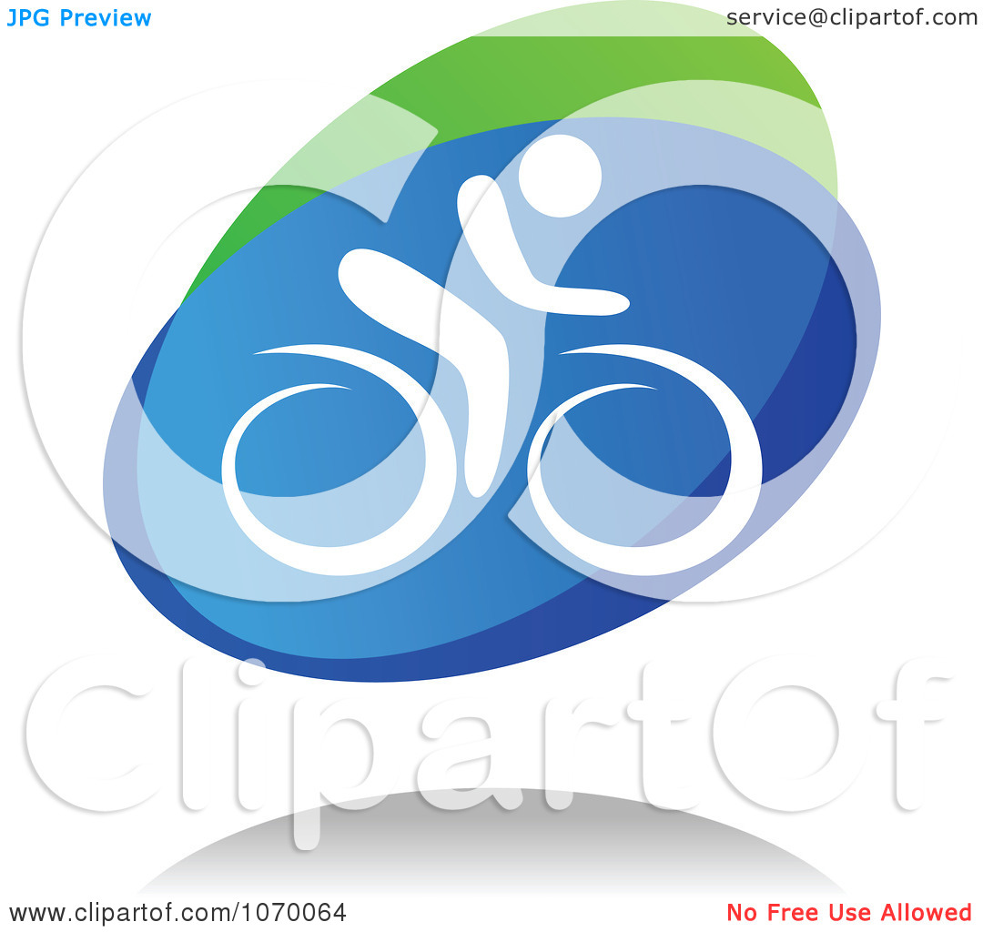 Clipart Cyclist Icon And Shadow 2.