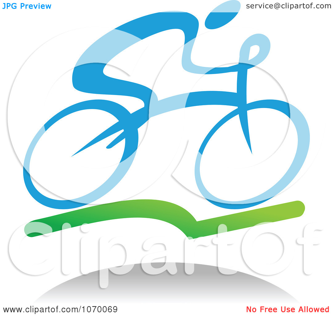 Clipart Cyclist Icon And Shadow 1.
