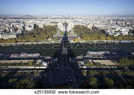 Stock Photo of Shadow of Eiffel Tower x25135932.
