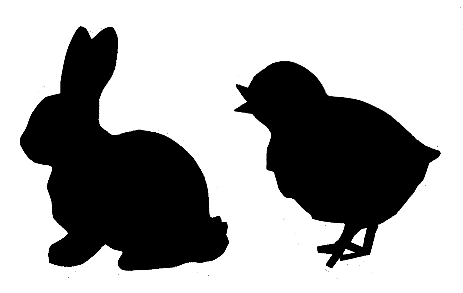willowday: Shadow Puppet Bunny Cards.