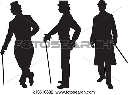 Clipart of Shadow of three men k13610682.