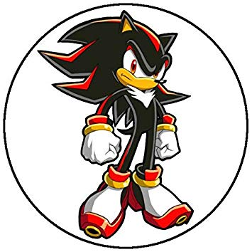 Sonic The Hedgehog Shadow The Hedgehog Edible Cake Topper.