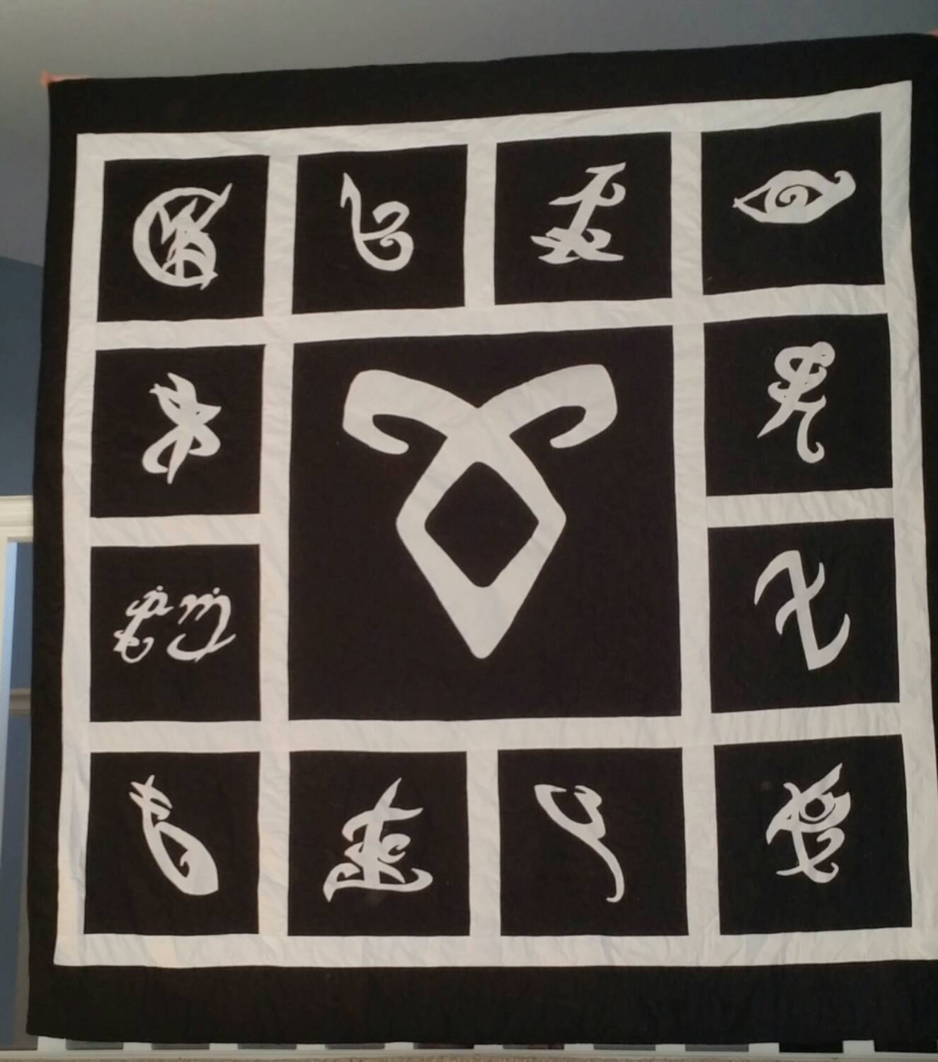 Shadowhunter Rune Quilt based on The Mortal Instruments by.
