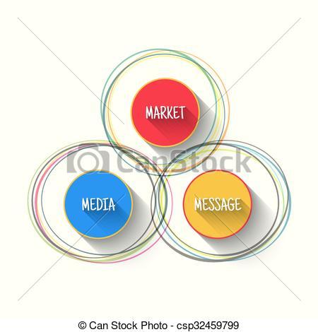 EPS Vectors of Vector media market message infographic in modern.