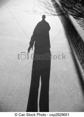 Stock Photography of Shadow Man.