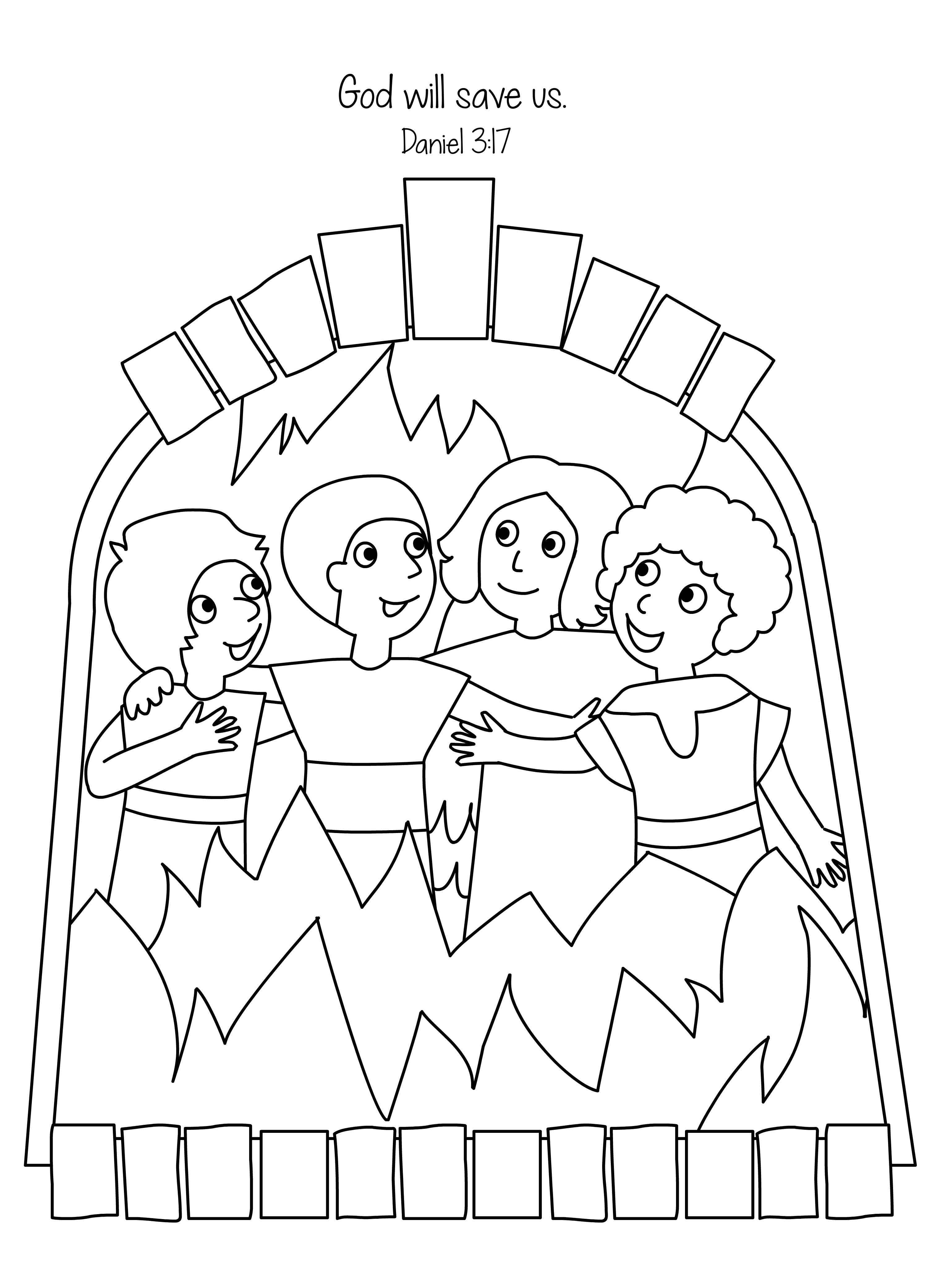Free Shadrach Meshach And Abednego Coloring Page, Download.