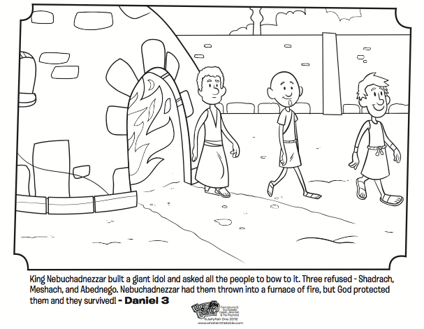 Bible Coloring Pages Shadrach Meshach Abednego.