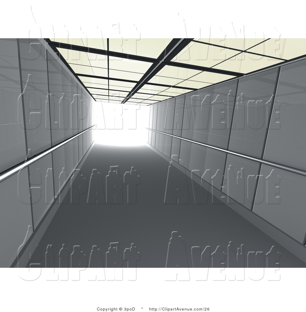 Avenue Clipart of a 3d Elevator Shaft by 3poD.