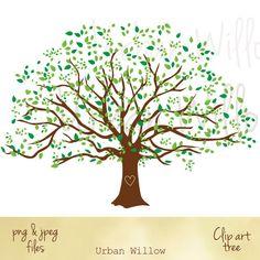 Clip art Oak Tree.