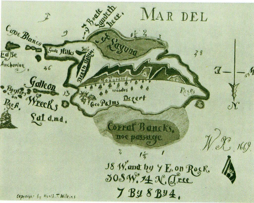 Oak island treasure map clipart.
