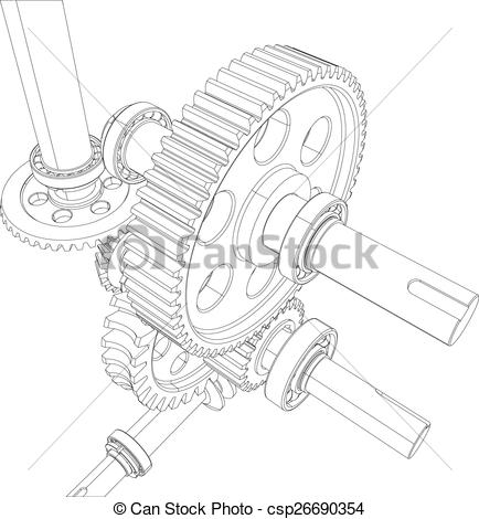 Clipart Vector of Wire.