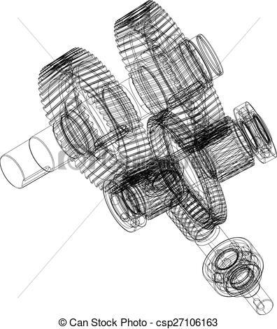 Clip Art Vector of Wire.