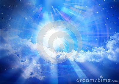 Heaven Sky Sun Christmas Star Royalty Free Stock Images.