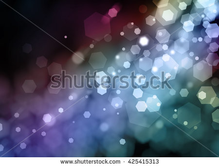 Black Night Sky Background With Shafts Of Light Shining On Blurred.