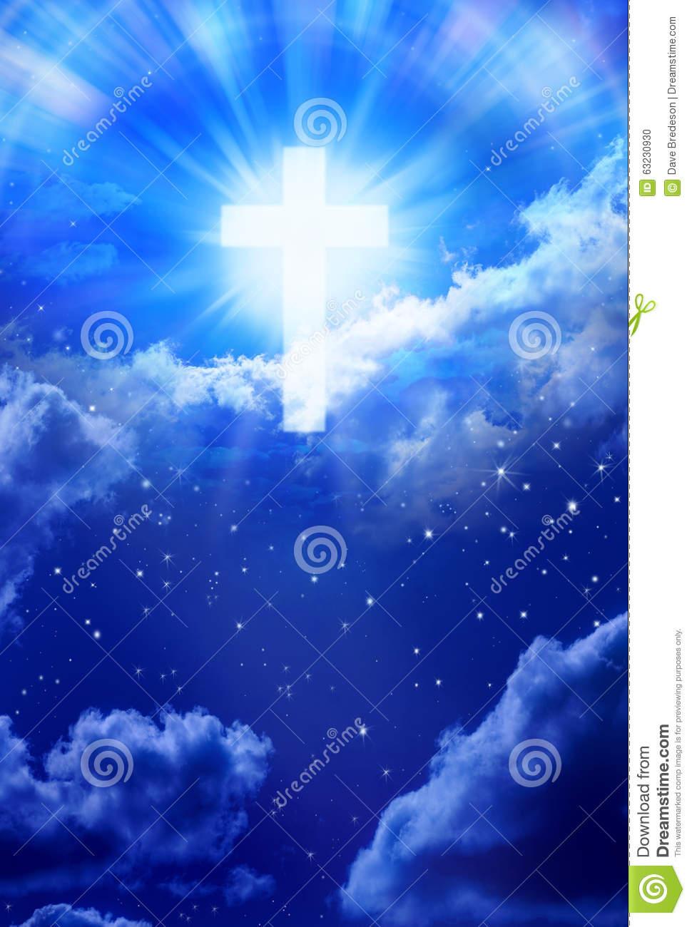 Heaven Cross Sky Christian God Stock Photo.