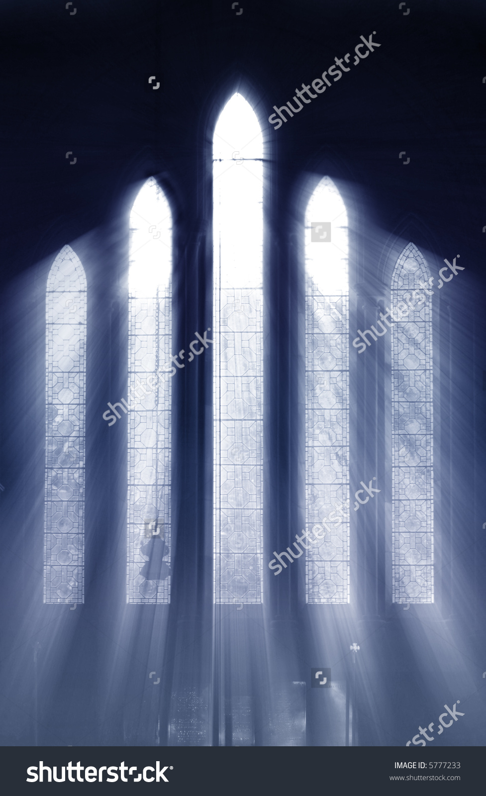 Seeing Light Shafts Light Stream Through Stock Photo 5777233.