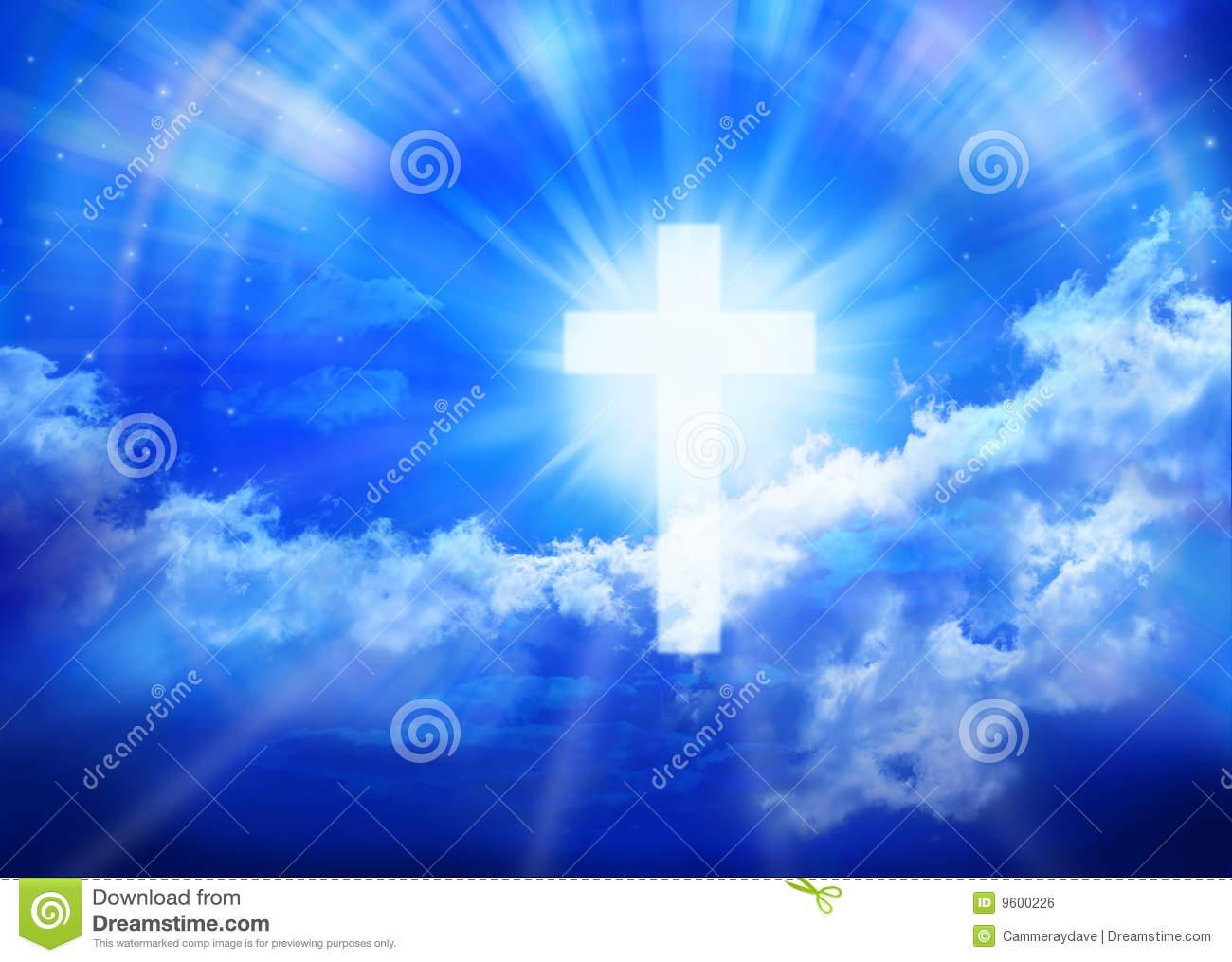Heaven Cross Sky Religion Royalty Free Stock Image.