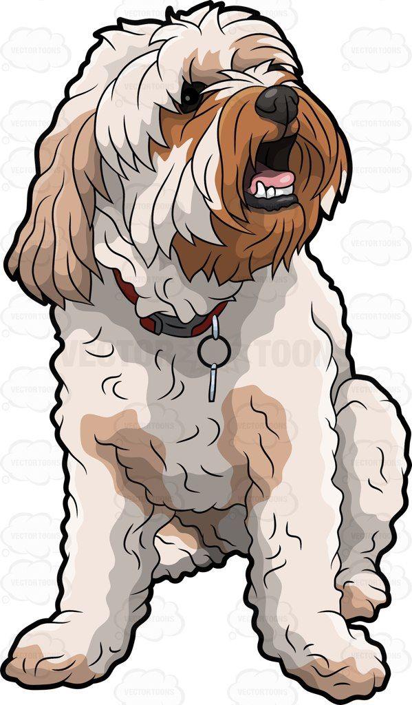 An adorable shaggy dog #cartoon #clipart #vector.