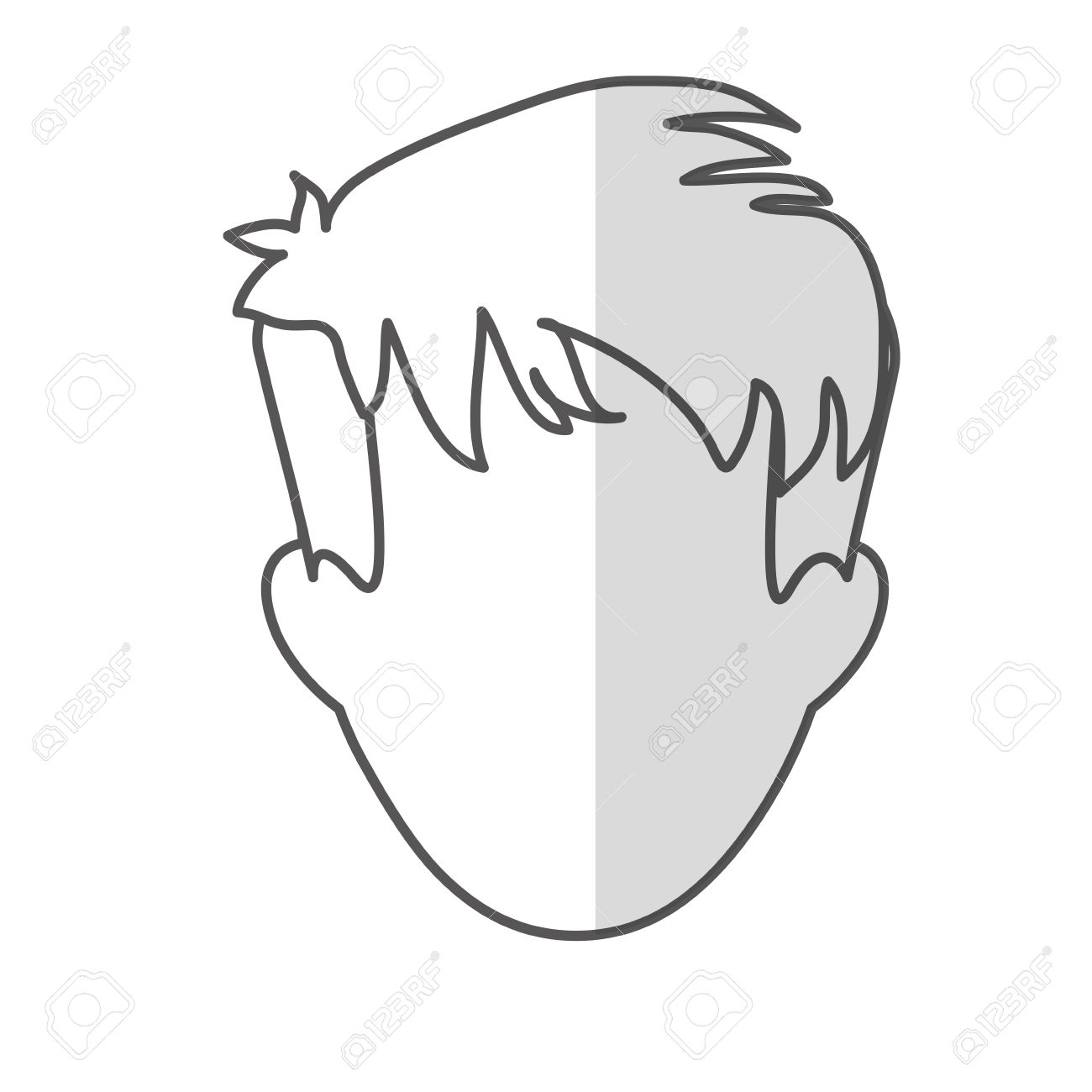 Man With Shaggy Hair Icon Image Vector Illustration Design Royalty.
