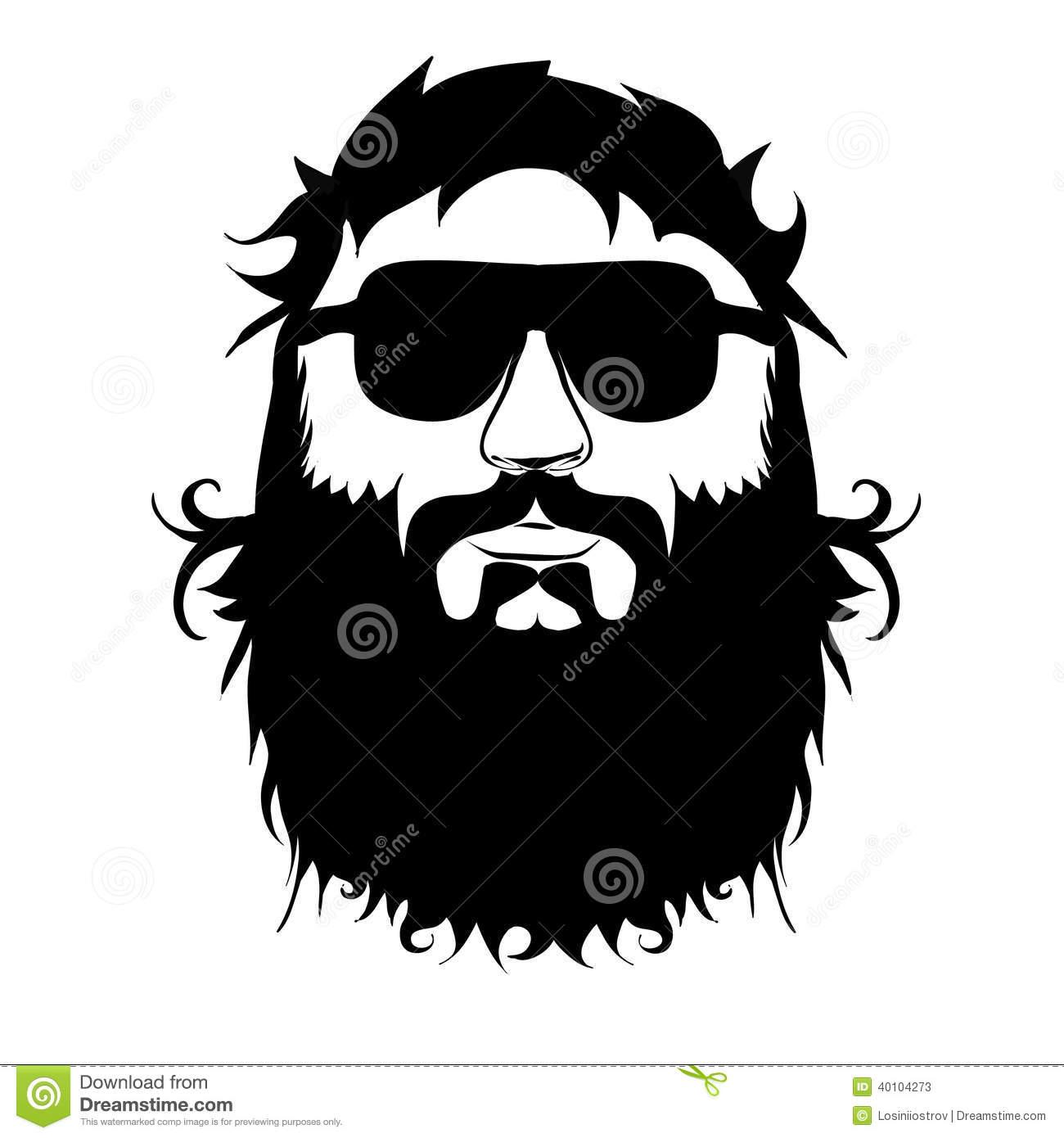 Beard Stock Vector.