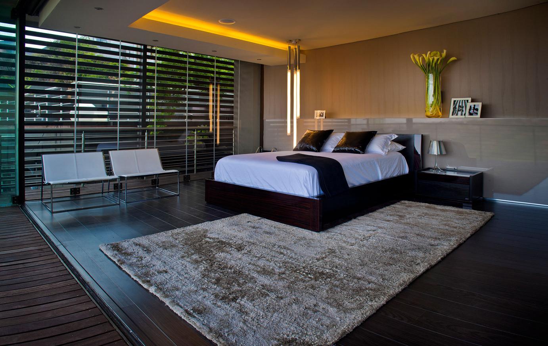 Bedroom with carpet floor.