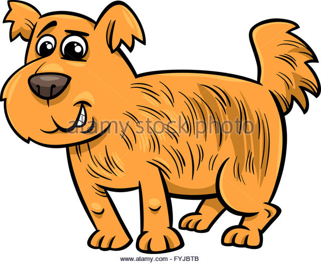 Cartoon Illustration Cute Hairy Dog Stock Photos & Cartoon.