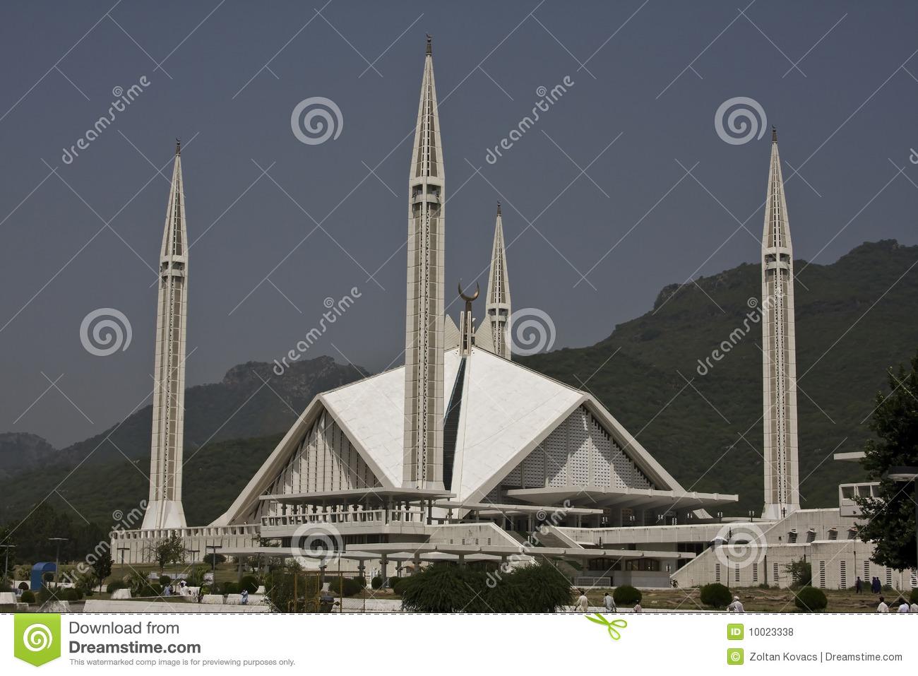 Shah Faisal Mosque Royalty Free Stock Photos.