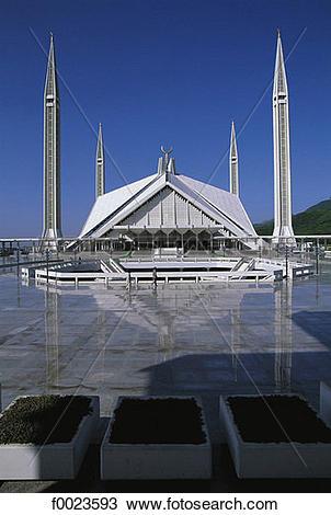 Stock Photo of Pakistan, Punjab, Islamabad, Shah Faisal Mosque.