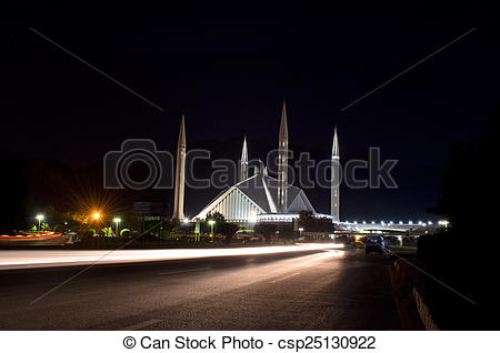 Stock Photo of Shah Faisal Mosque Islamabad.