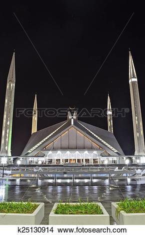 Stock Photo of Shah Faisal Mosque Islamabad k25130914.