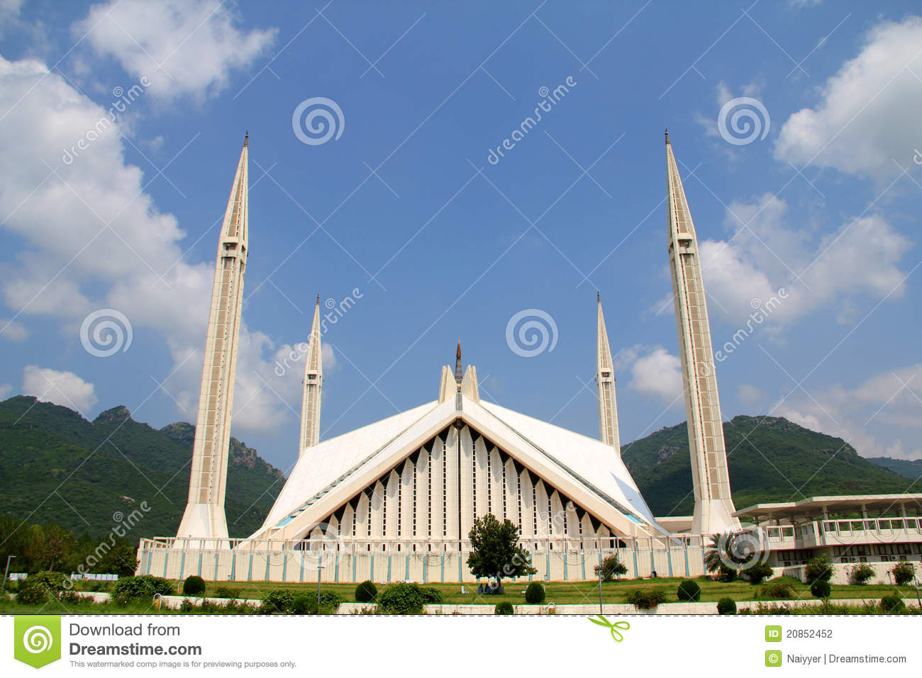 Shah Faisal Mosque Islamabad Stock Photography.