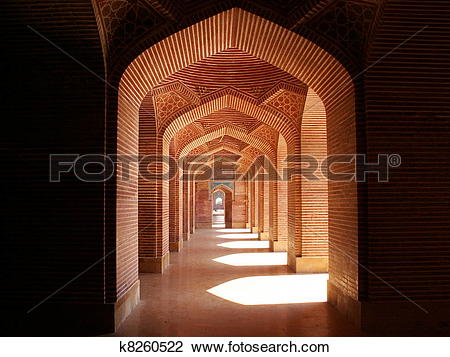 Stock Photo of Shah Jahan Mosque Thatta, Pakistan k8260522.