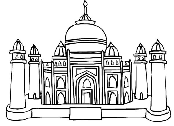 Mughal Emperor Shah Jahan of the Taj Mahal Coloring Page.