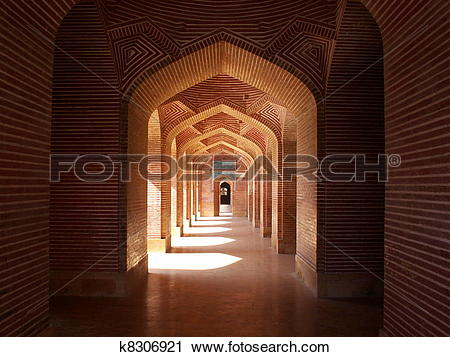 Stock Photography of Shah Jahan Mosque Thatta, Pakistan k8306921.
