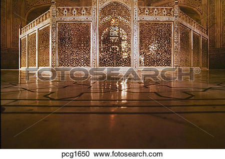 Stock Photography of Agra Utar Pradesh India Asia Taj Mahal Tomb.