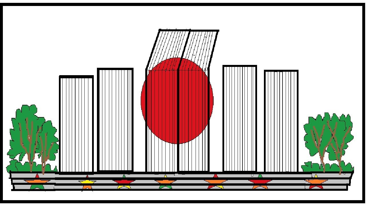 how to draw shaheed minar ^^ nice shahid minar scenery.