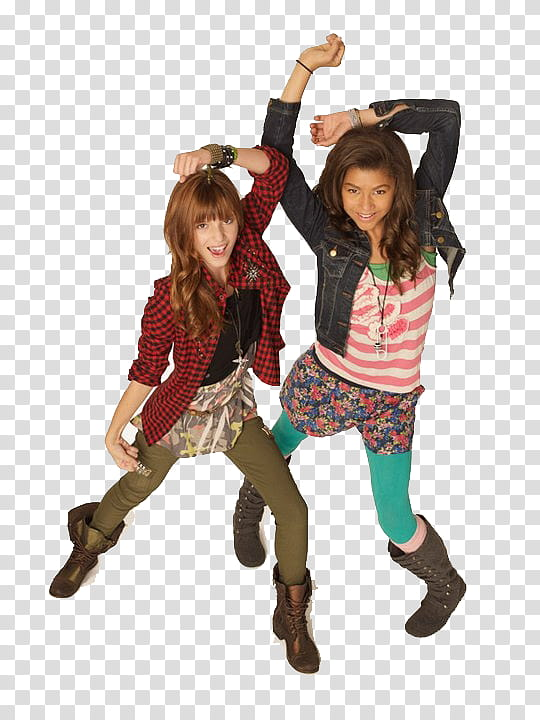 Shake It Up, two girls dancing transparent background PNG.