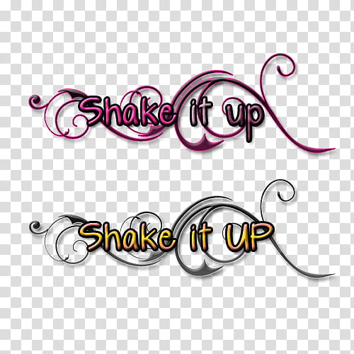 Textos, shake it up with text overlay transparent background.